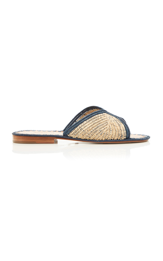 CARRIE FORBES | Carrie Forbes Salon Miste Raffia Slides | Goxip