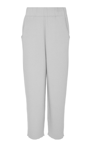 SALLY LAPOINTE | Sally LaPointe Ribbed Cashmere And Silk-Blend Culottes | Goxip