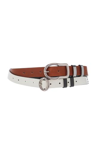 DOROTHEE SCHUMACHER | Dorothee Schumacher Dual Leather Belt | Goxip