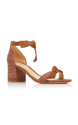 959035bbbfe Alexandre BirmanClarita Block Heel Tweed And Suede Sandals