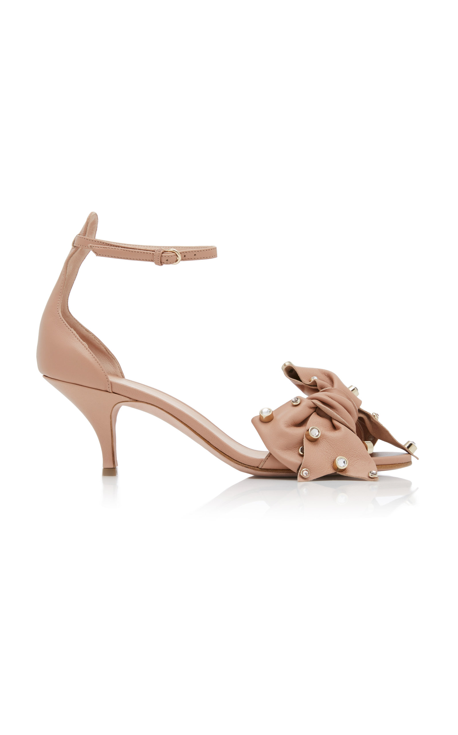 RED VALENTINO KNOTTED SANDAL