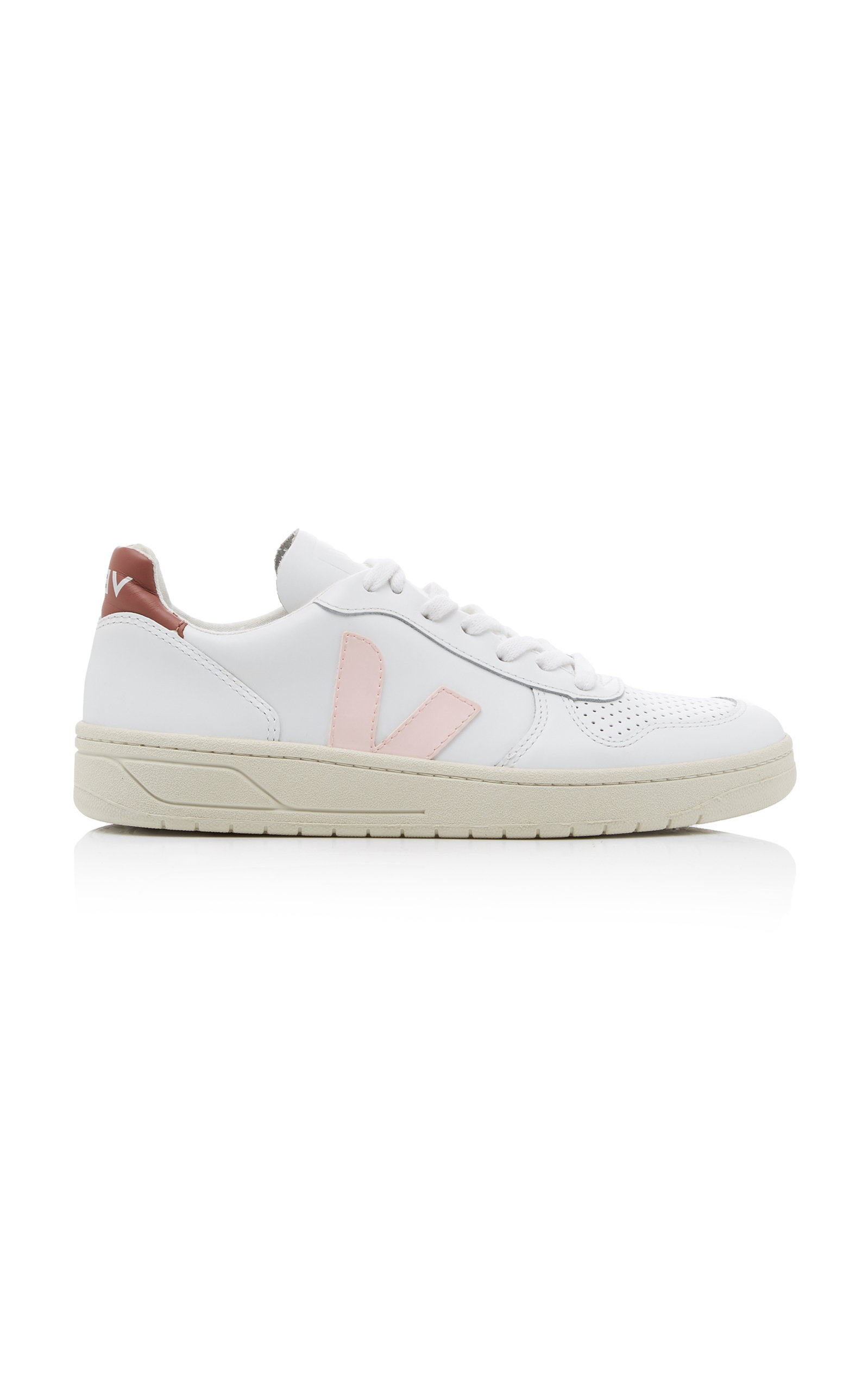 VEJA | VEJA V-10 Leather Mesh And Suede Sneakers | Goxip