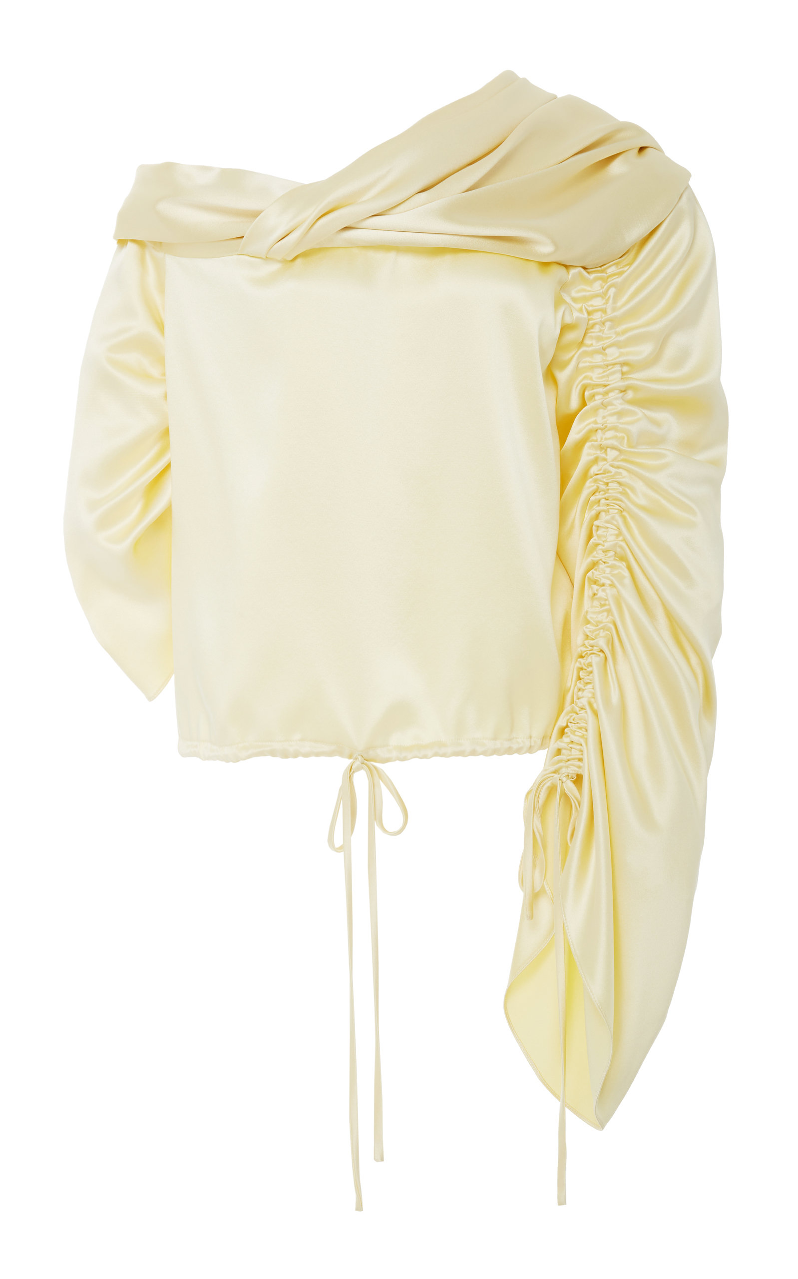 baf8aed5586dd HellessySunshine Silk Off Shoulder Top. CLOSE. Loading