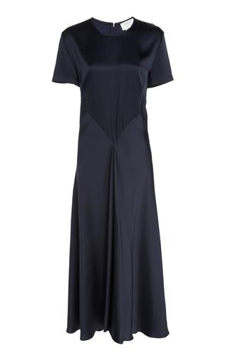 SPORTMAX   Sportmax Vibo Short-Sleeve Satin Dress   Goxip
