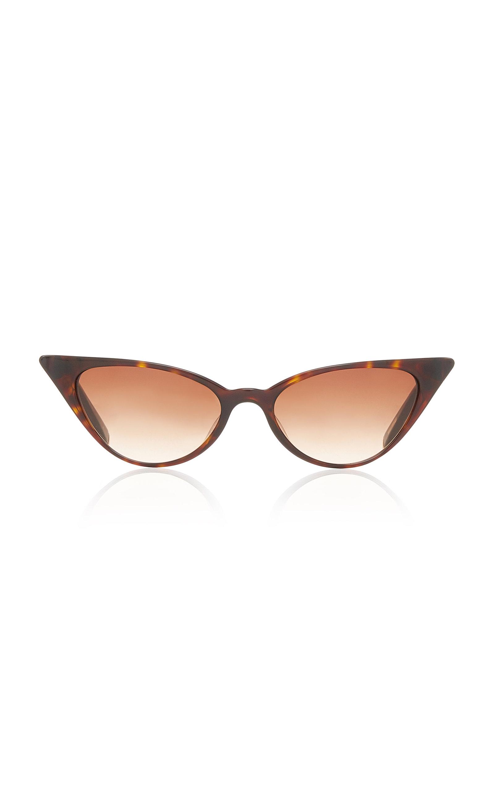 KATE YOUNG Lita Cat-Eye Sunglasses in Brown