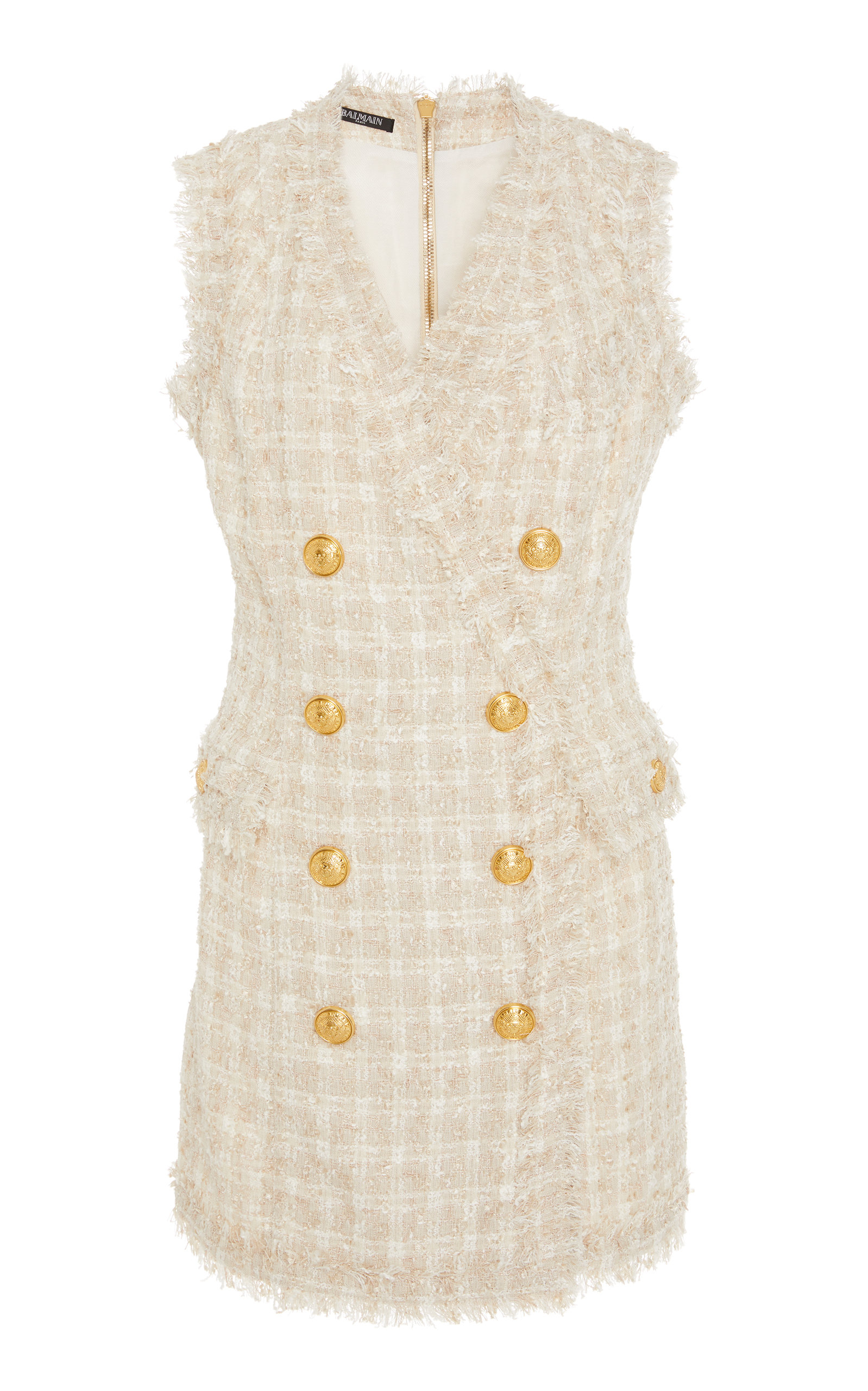 3f776d52 Double-Breasted Tweed Mini Dress by Balmain | Moda Operandi