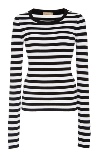 MICHAEL KORS | Michael Kors Collection Striped Jersey Sweater | Goxip