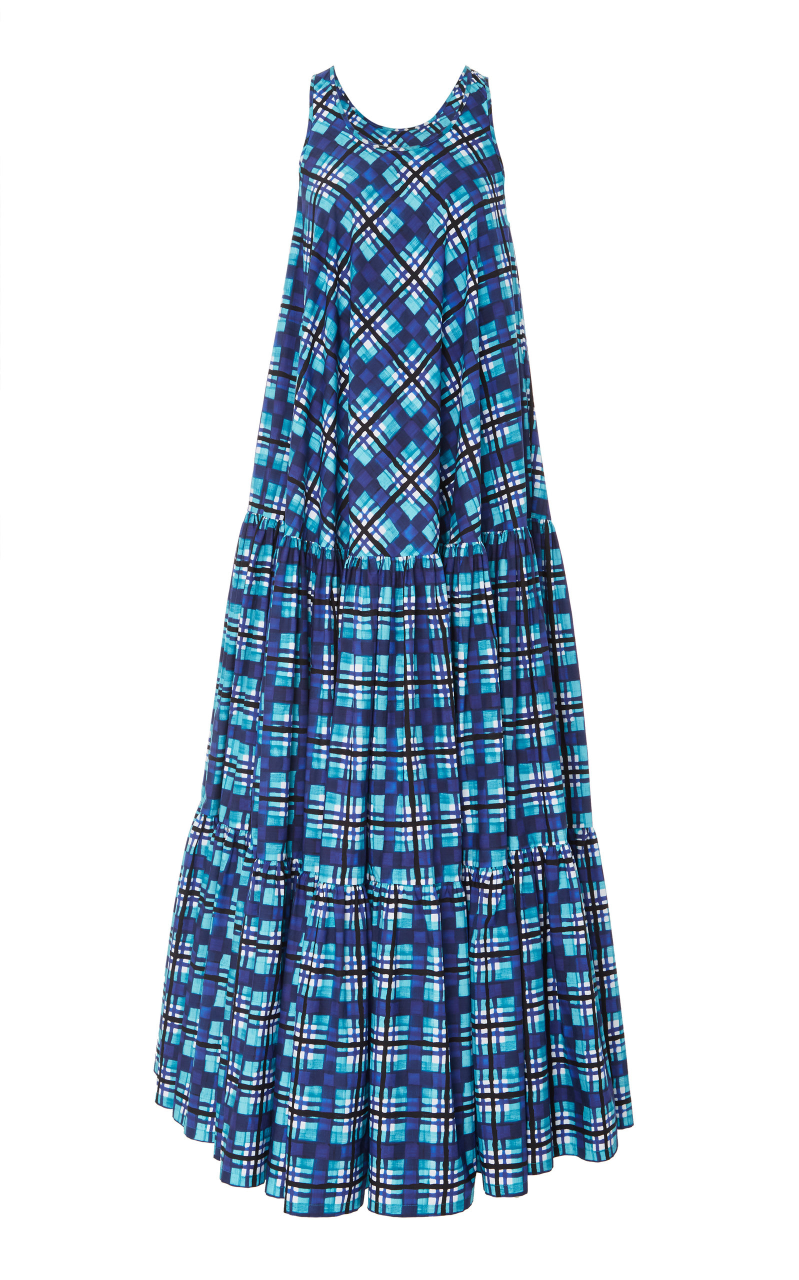 Plaid Trapeze Dress Michael Kors