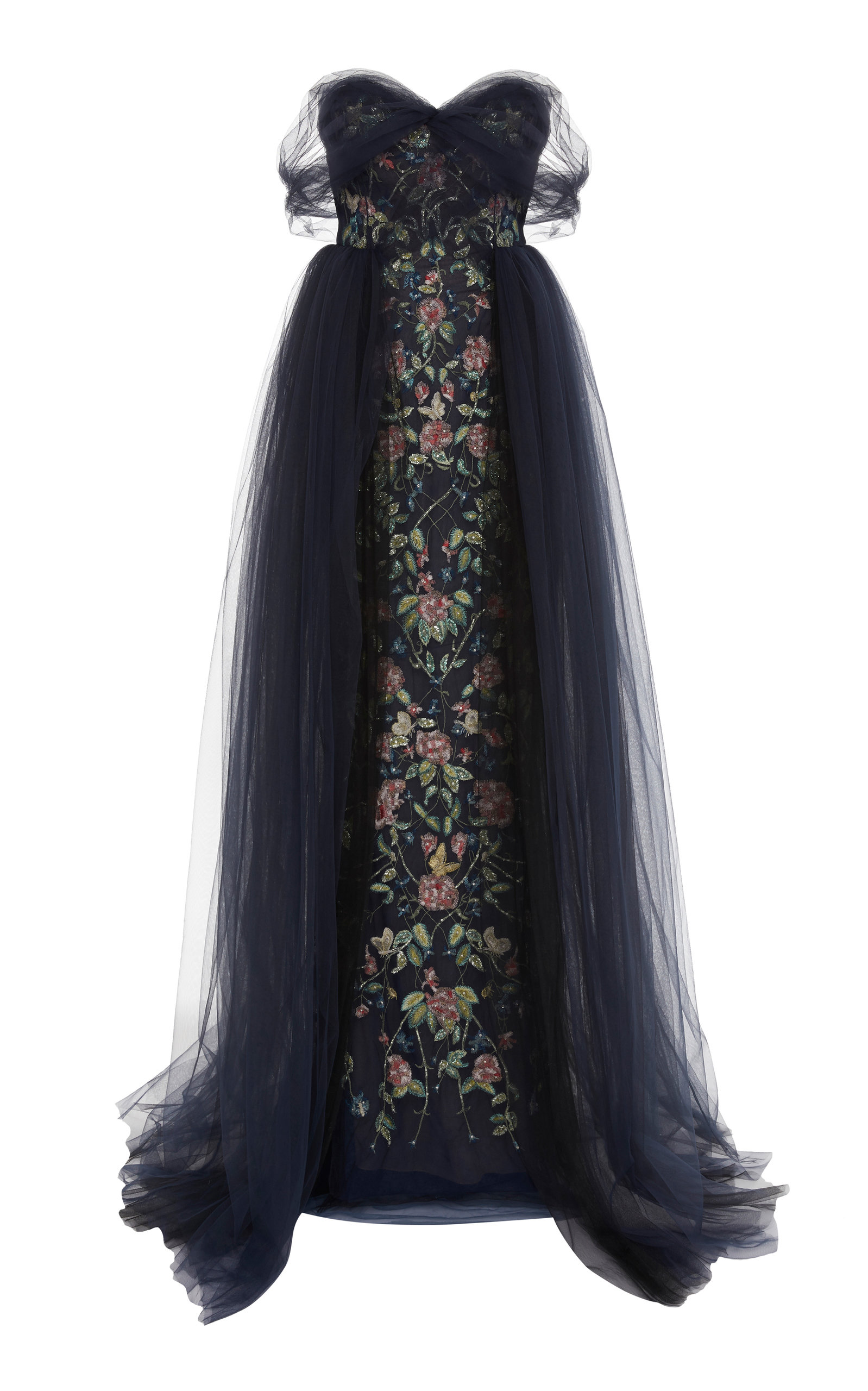 Off The Shoulder Tulle Ballgown by Marchesa