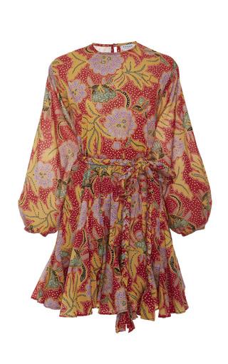 RHODE RESORT | Rhode Resort Ella Belted Pleated Cotton Mini Dress | Goxip