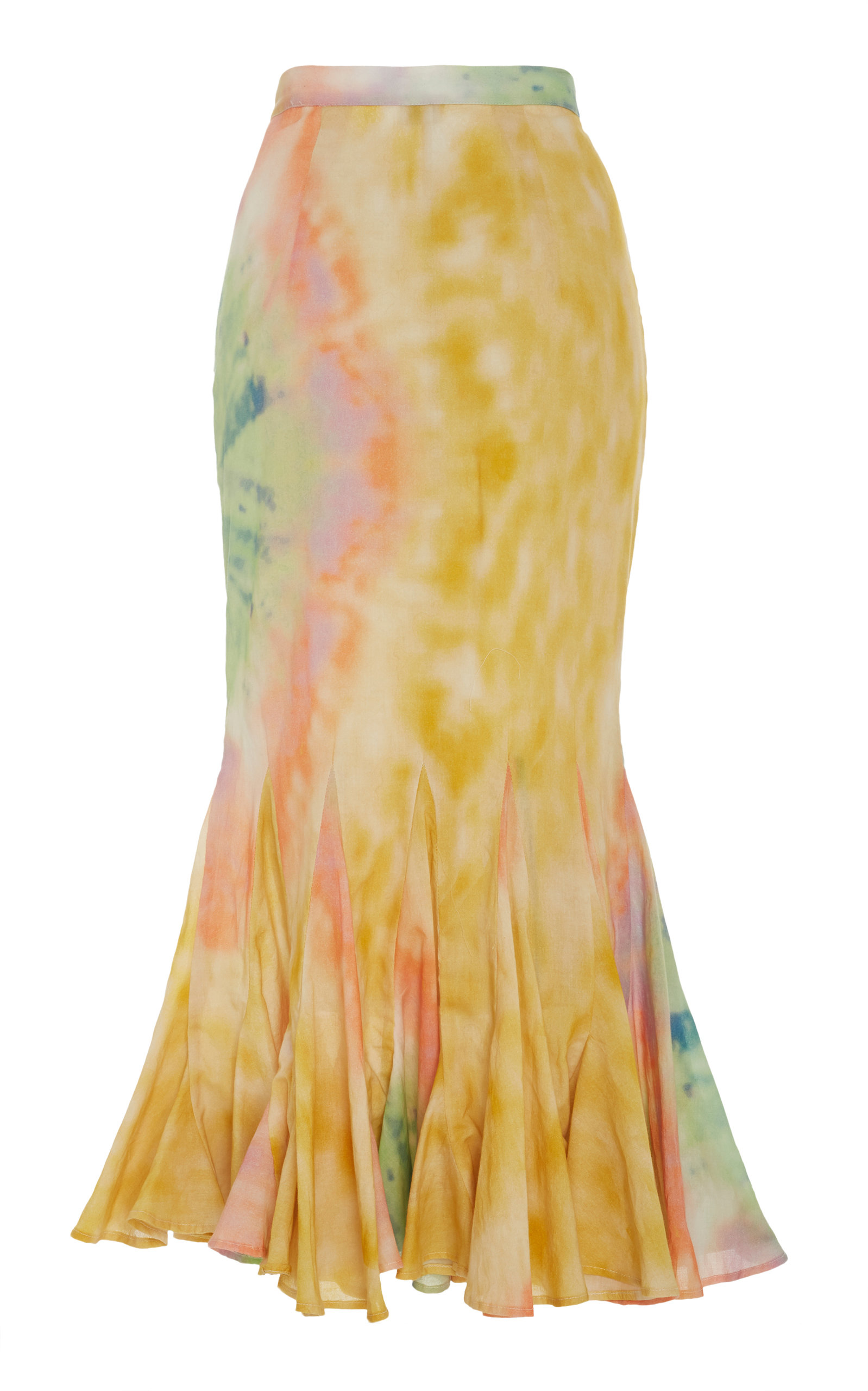 63383f19ebc71 RhodeSienna Pleated Tie-Dye Cotton Midi Skirt. CLOSE. Loading. Loading