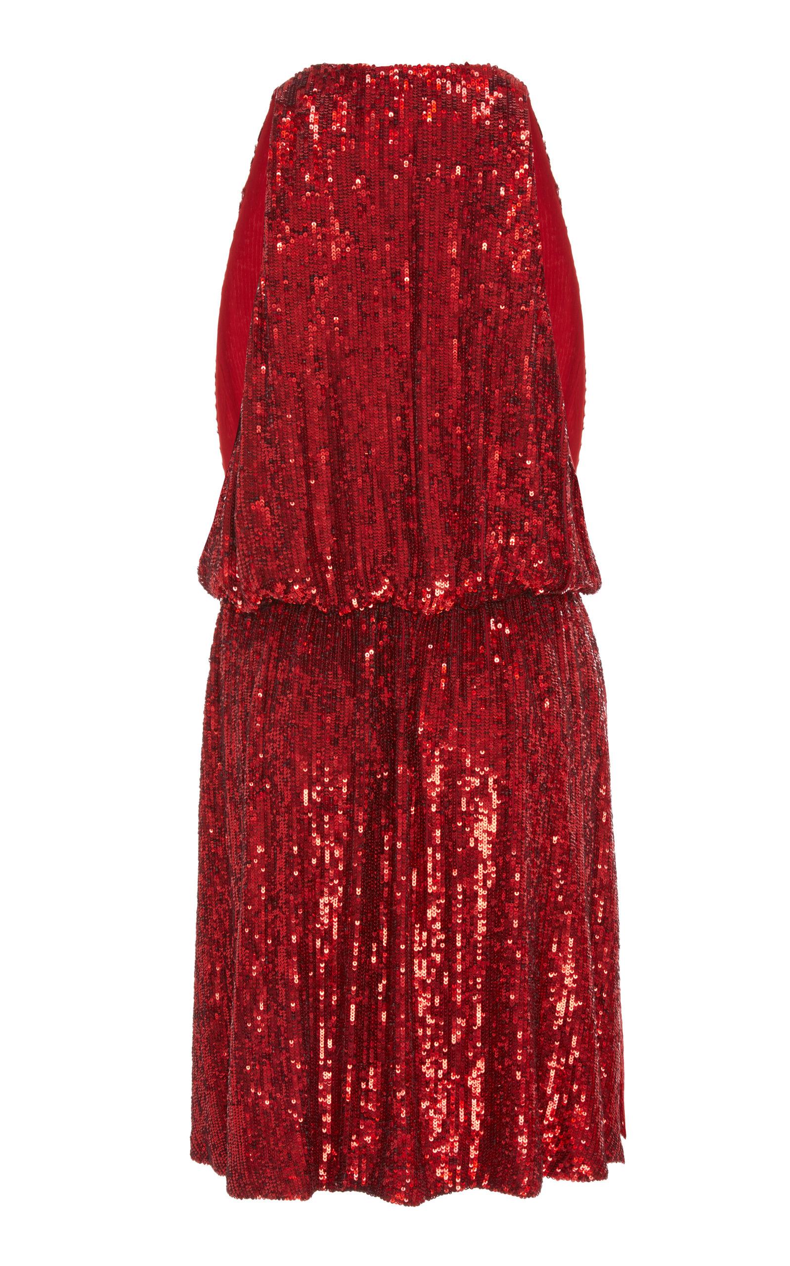 Mina Plunge Dress by Caroline Constas