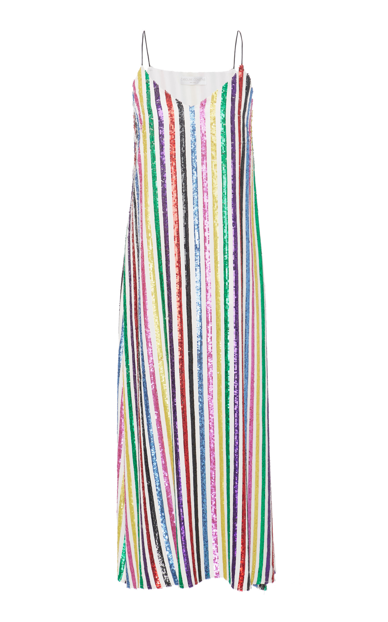 Midi Stripe Slip Dress Caroline Constas