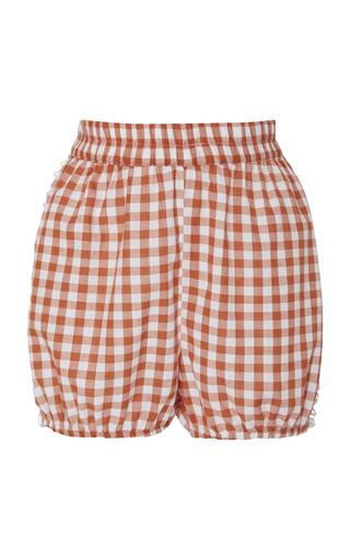 DODO BAR OR   DoDo Bar Or Gloria Gingham Cotton Shorts   Goxip