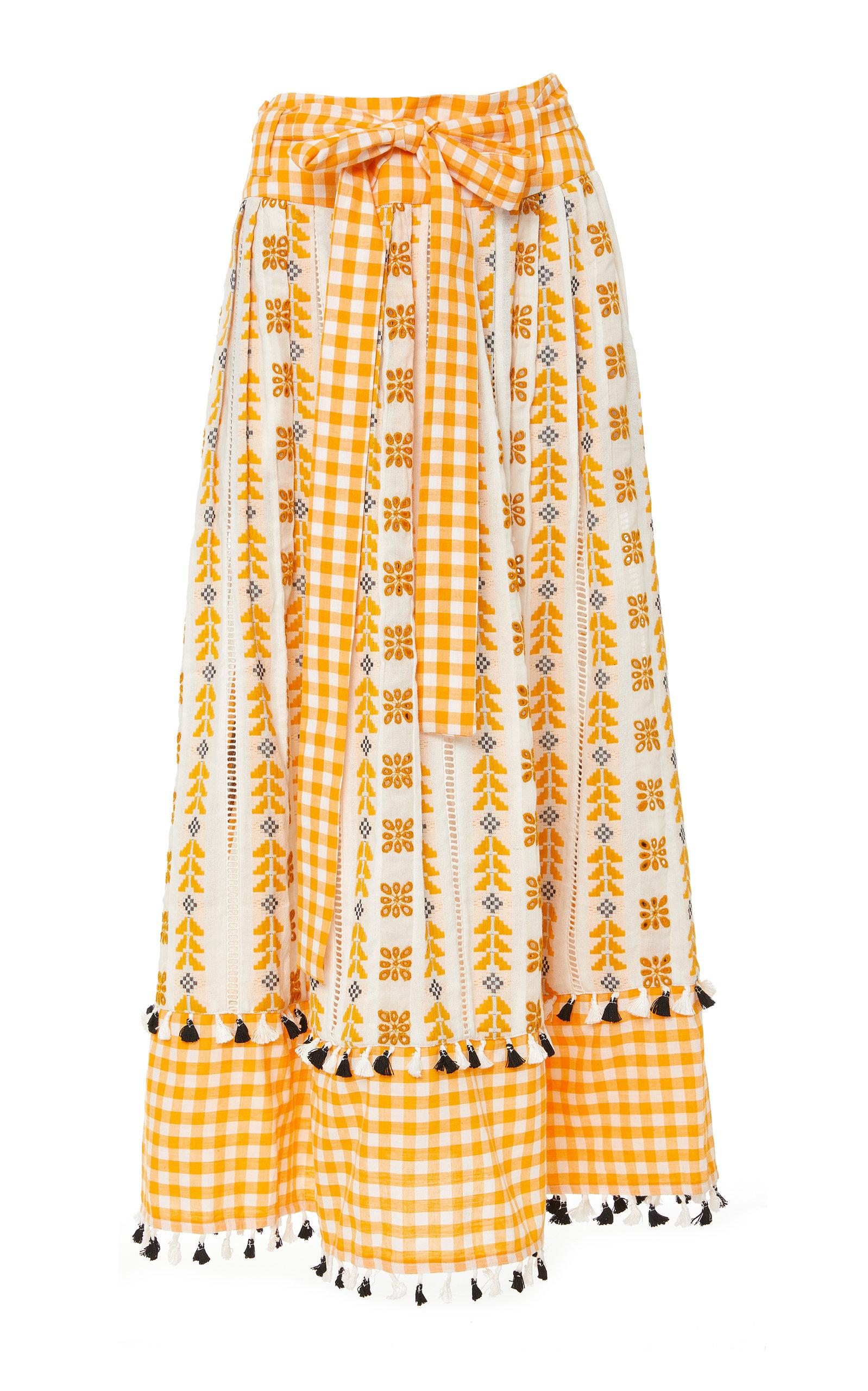 DODO BAR OR | DoDo Bar Or Antonela Printed Cotton Midi Skirt | Goxip