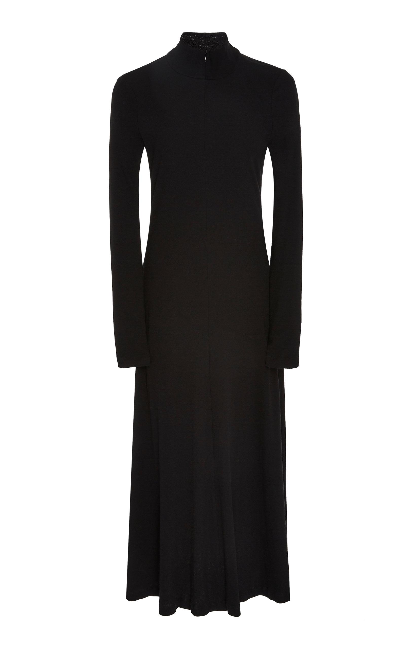 ROSETTA GETTY   Rosetta Getty Zip-Detailed Ribbed Cotton-Jersey Turtleneck Dress   Goxip