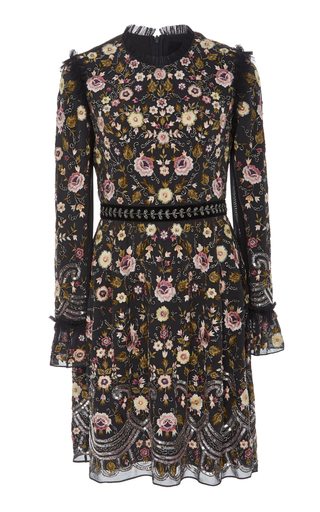NEEDLE & THREAD | Needle & Thread Marella Floral-Embroidered Mini Dress | Goxip