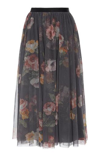 Venetian Rose Floral-Print Tulle Skirt By Needle &