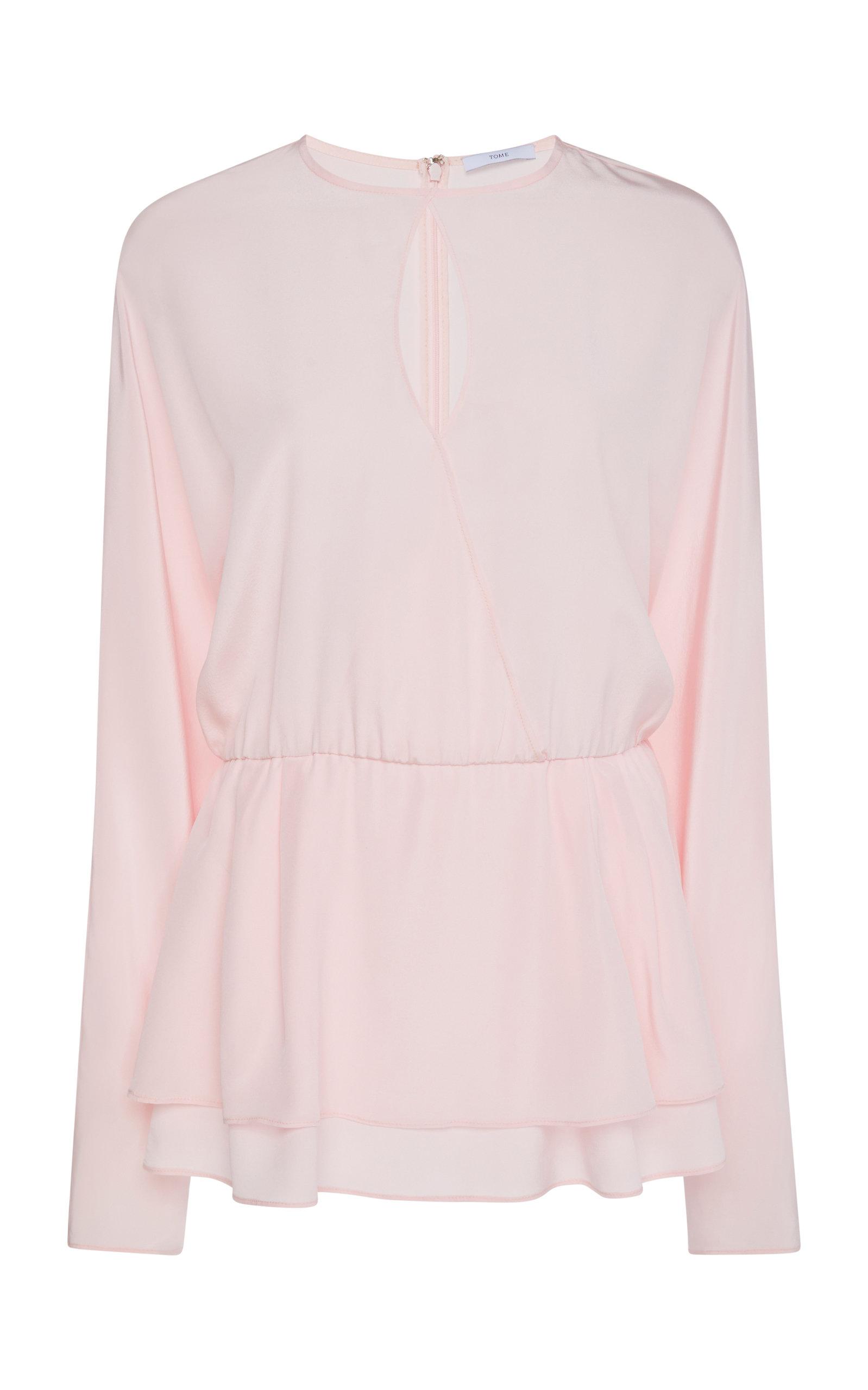 Overlapping Keyhole Blouse by Tome