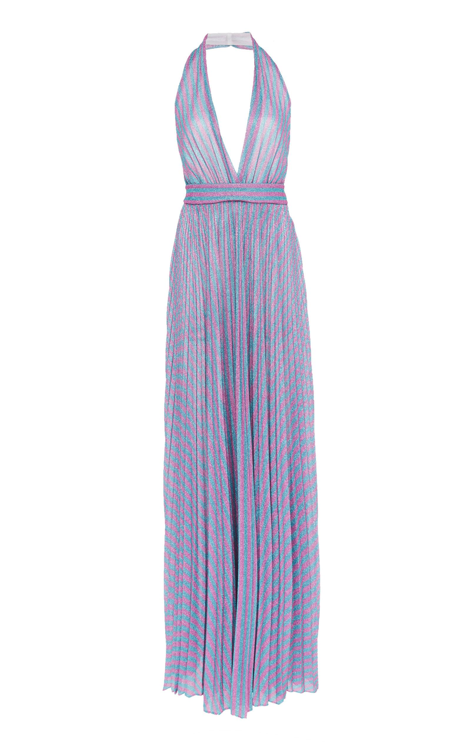 Striped Lurex Jersey Halter Dress by Philosophy Di Lorenzo Serafini