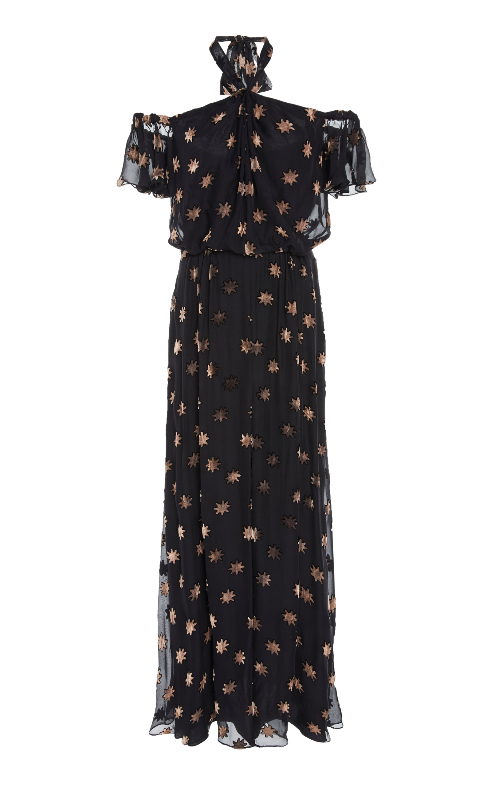 Temperley London Velvet Star Twist Dress
