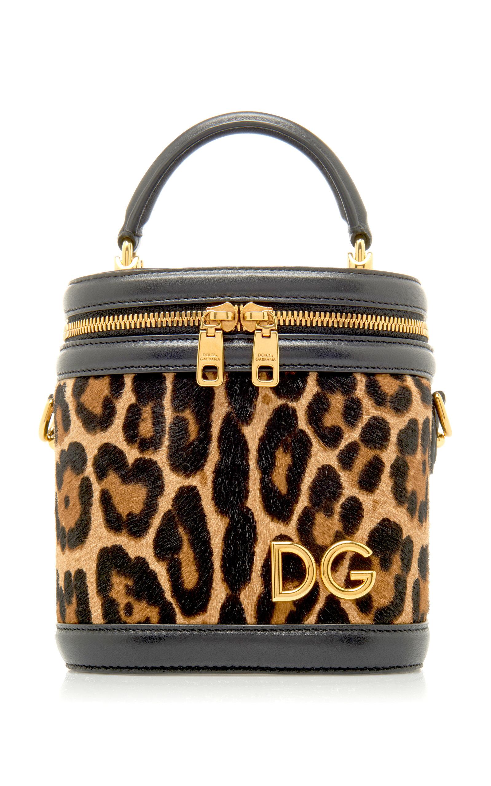 5b6bdeae91 Dolce   Gabbana Leather-Trimmed Leopard Print Bucket Bag