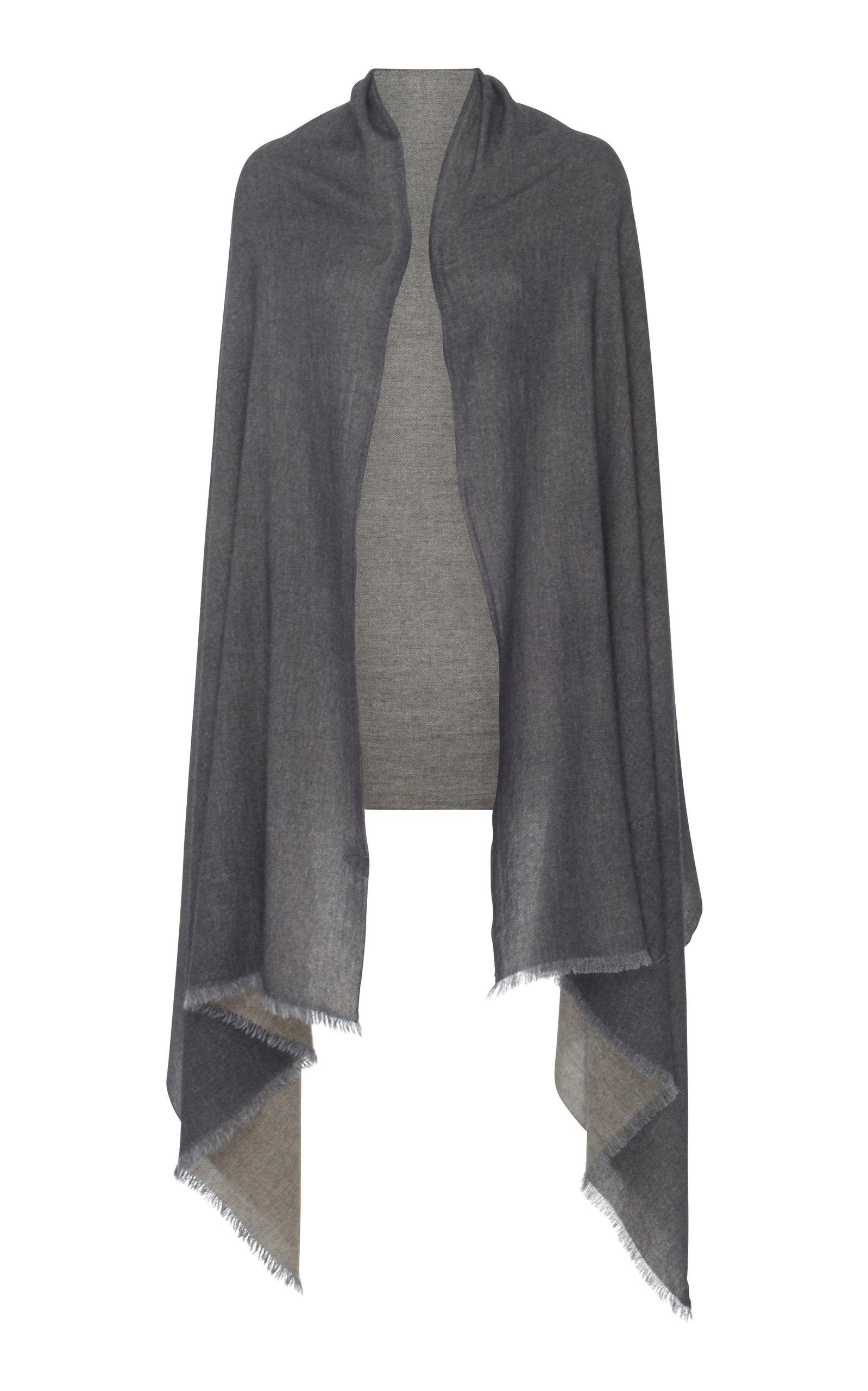 LANIFICIO ARCA Two-Tone Cashmere Wrap in Grey