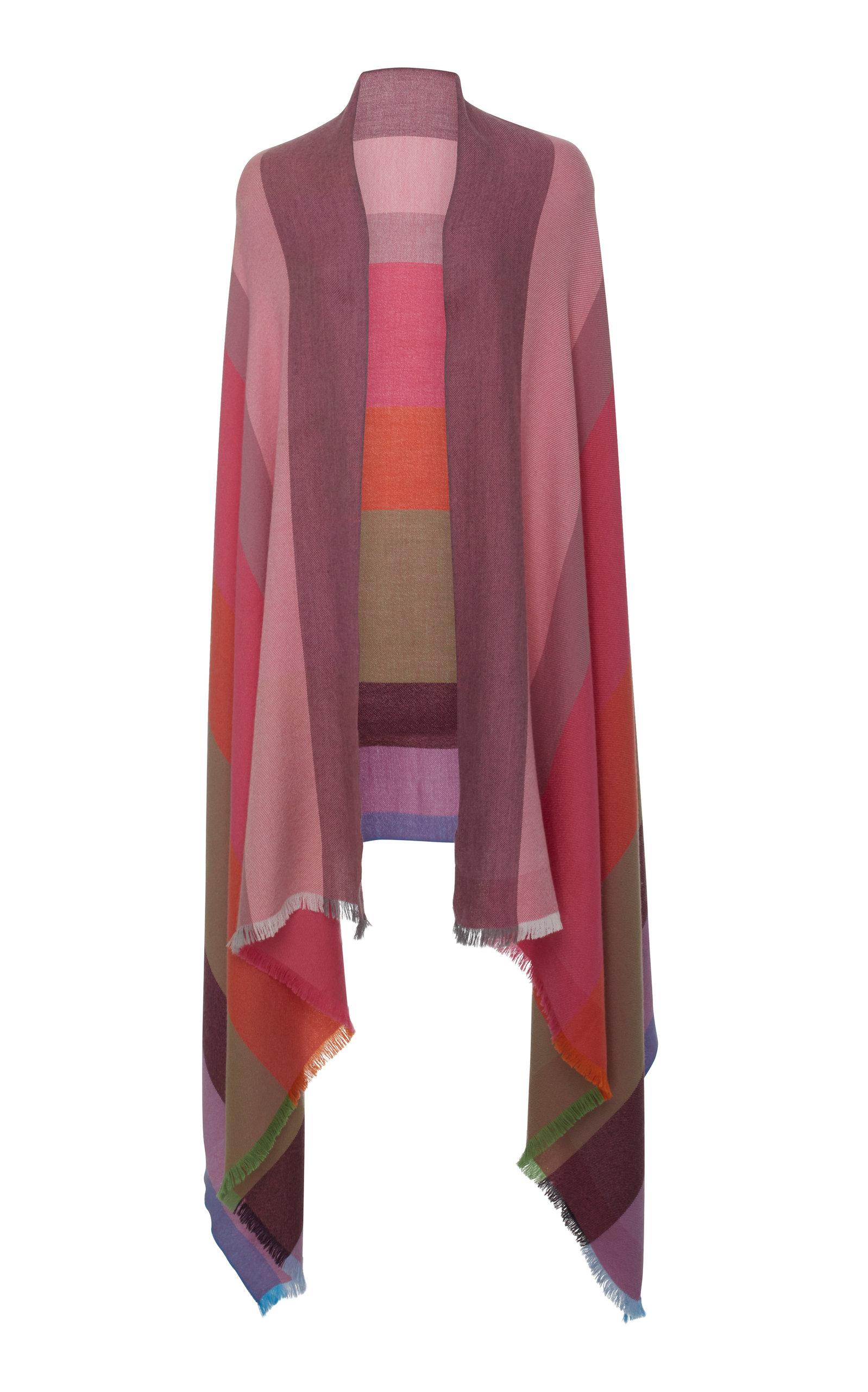 LANIFICIO ARCA Batavia Color-Block Silk Cashmere Scarf in Multi