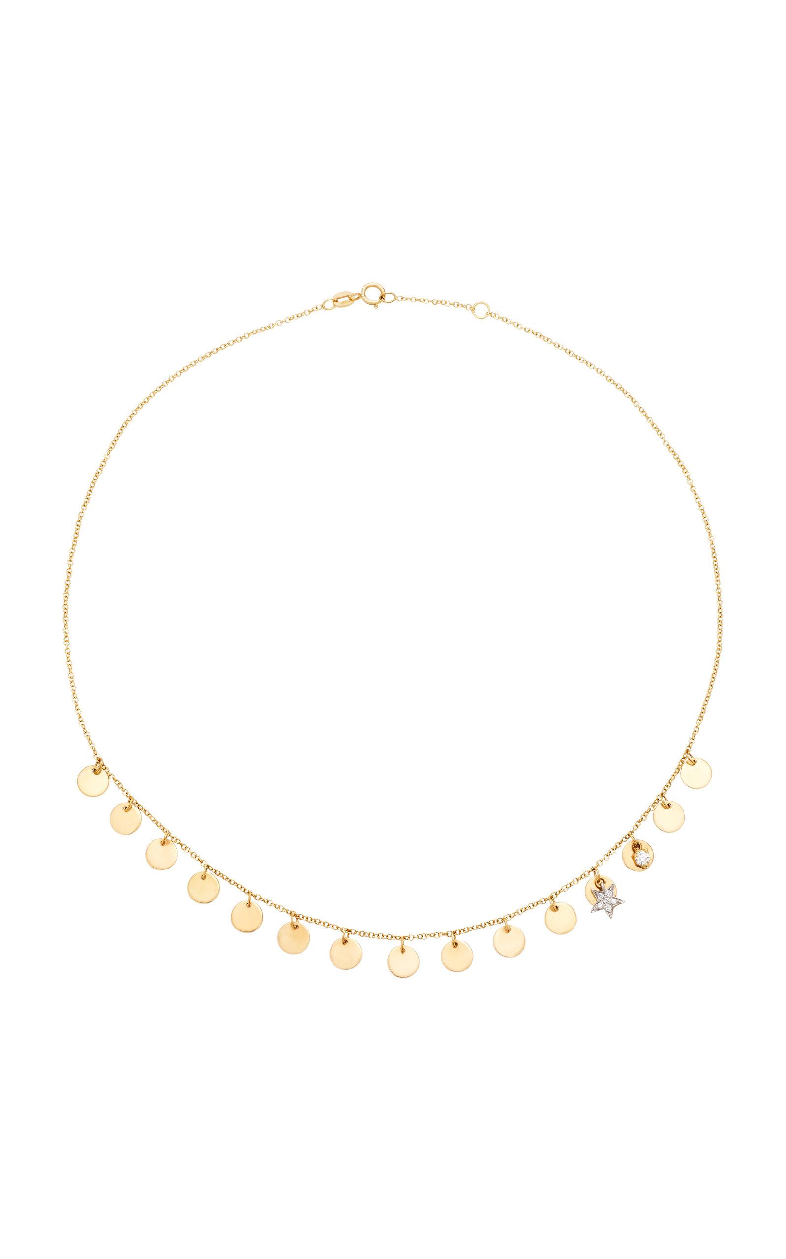 MONTSE ESTEVE | Montse Esteve 18K Gold Diamond Necklace | Goxip