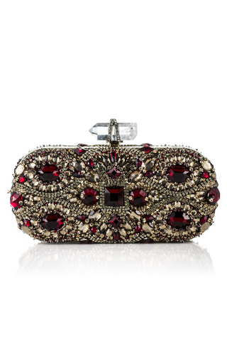 Medium marchesa red lily embroidered clutch 3