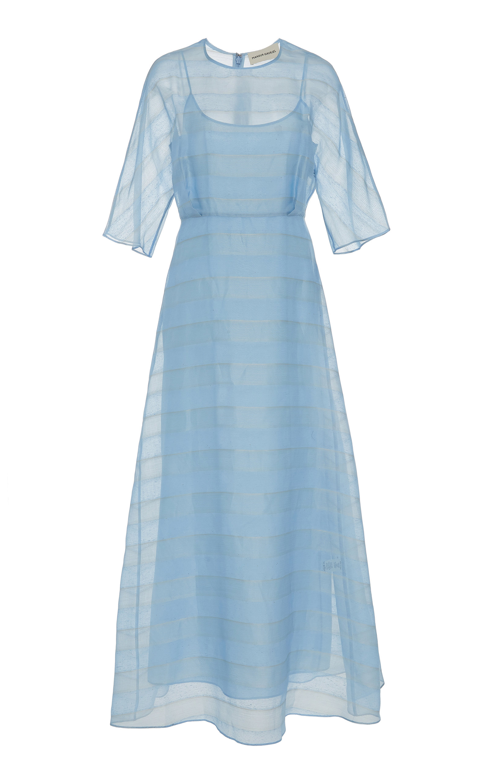 Mansur Gavriel Dresses STRIPED SILK-VOILE MIDI DRESS
