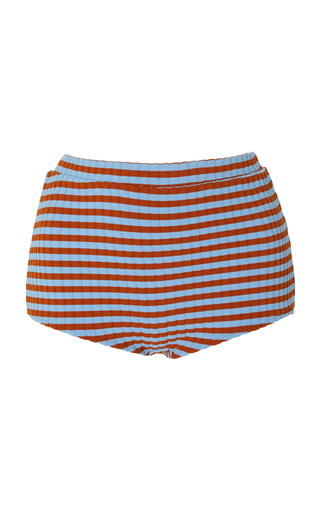 SOLID & STRIPED | Solid & Striped Jamie Ribbed High-Rise Bikini Bottom | Goxip
