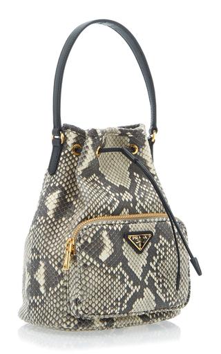 115eda9af Python Print Leather Bucket Bag by Prada | Moda Operandi