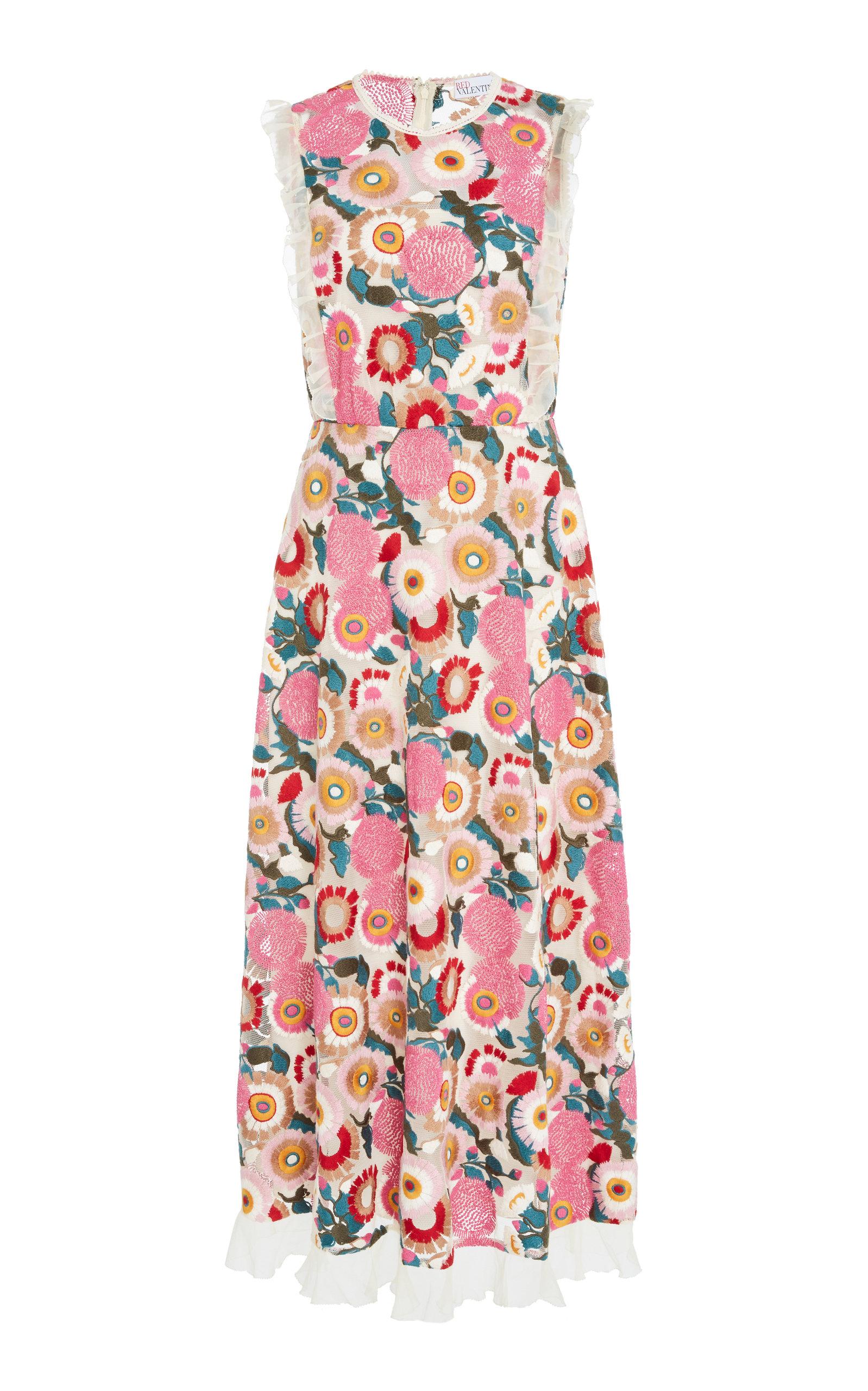 d444ae4ca12 Red Valentino Floral Print Midi Dress - Gomes Weine AG