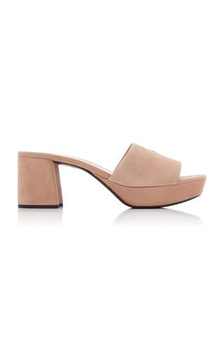 PRADA | Prada Suede Platform Sandals | Goxip
