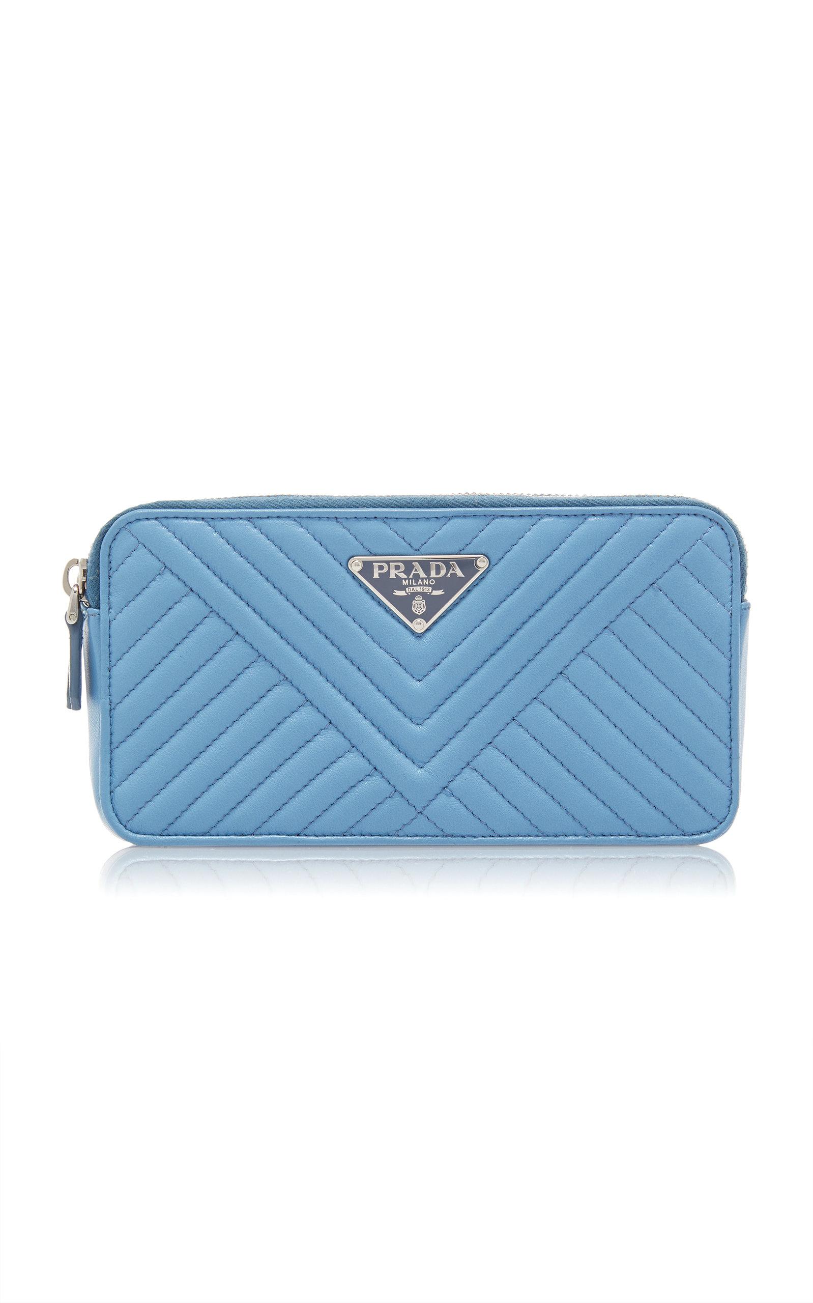 ... australia prada quilted leather wallet blue e5b4f d38f1 125dbb1d18aff