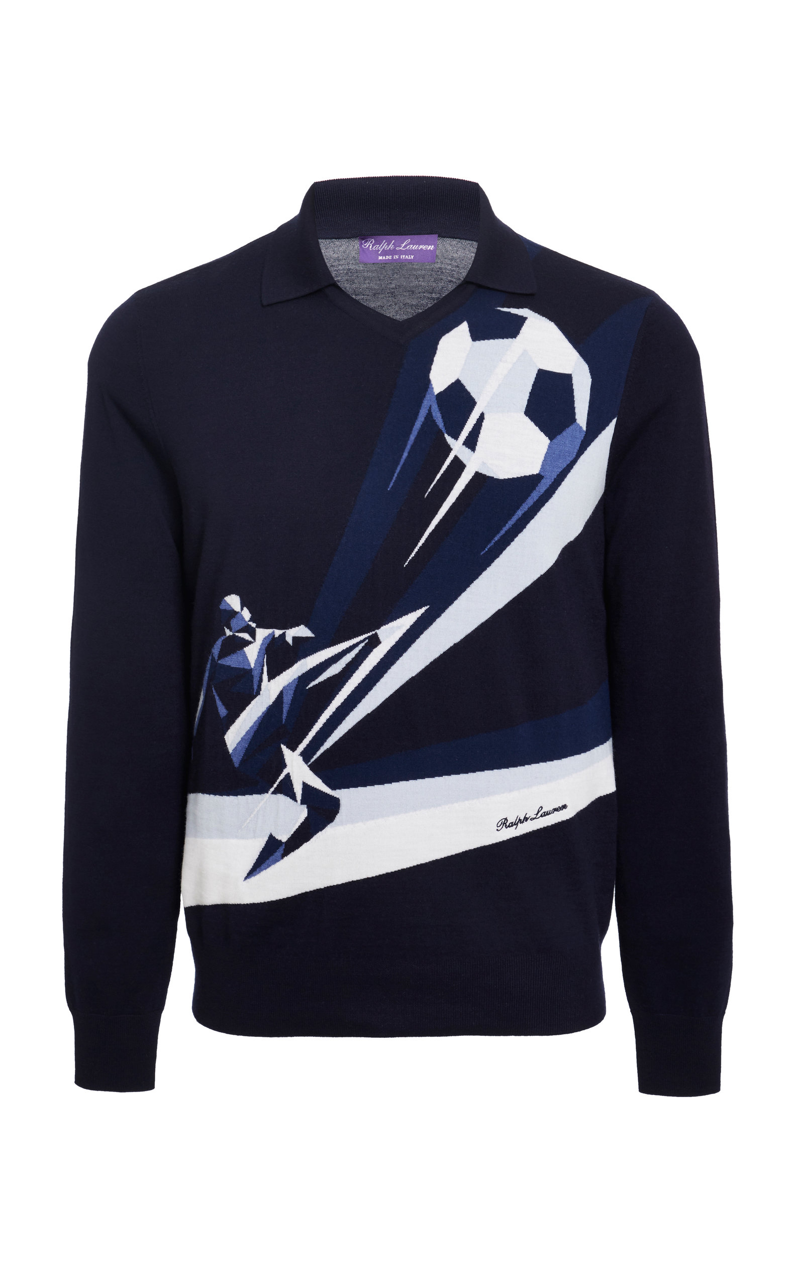 f0ece96ef18 Pull Over Soccer Motif by Ralph Lauren