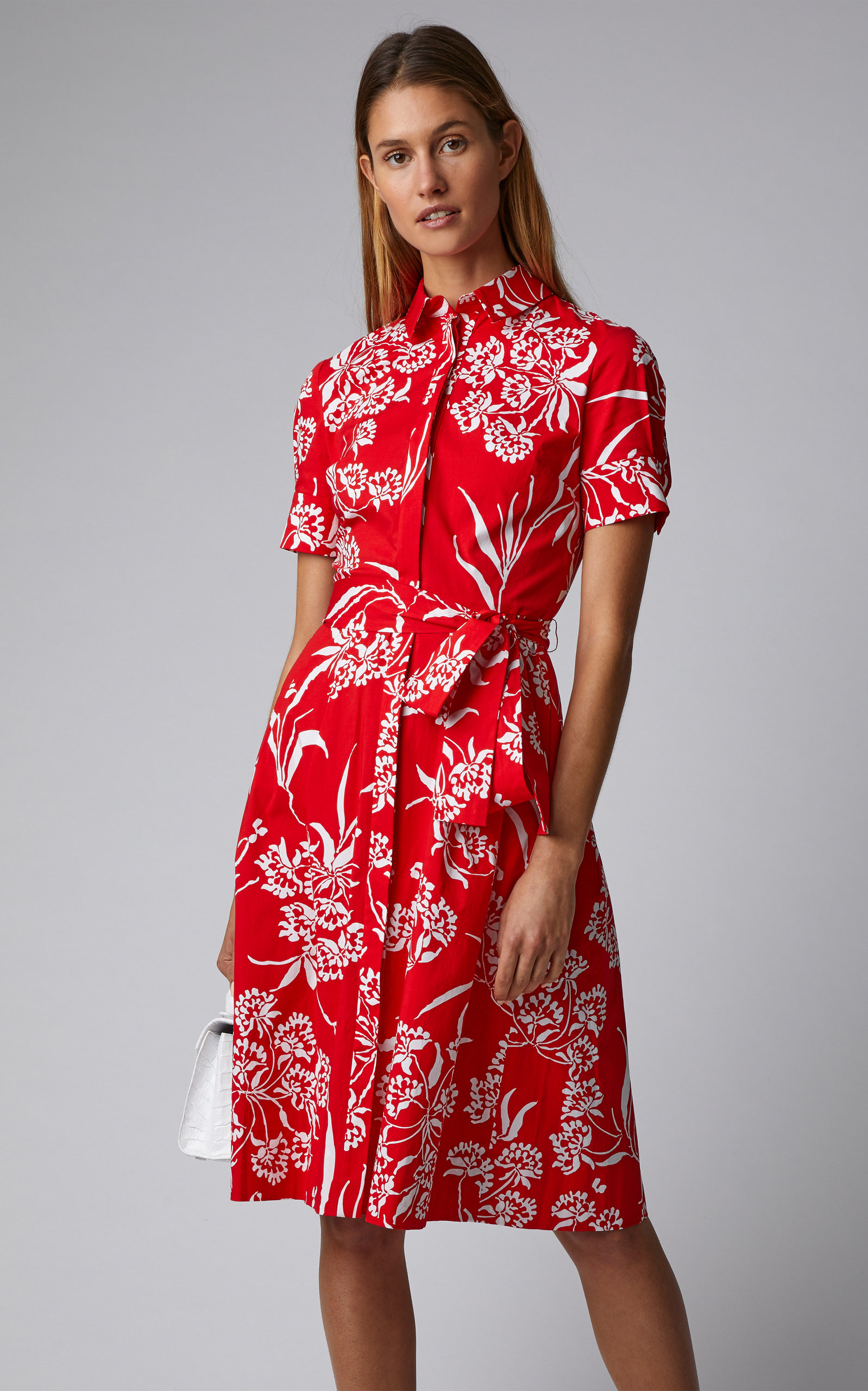 Floral Cotton Poplin Shirt Dress By Carolina Herrera Moda Operandi