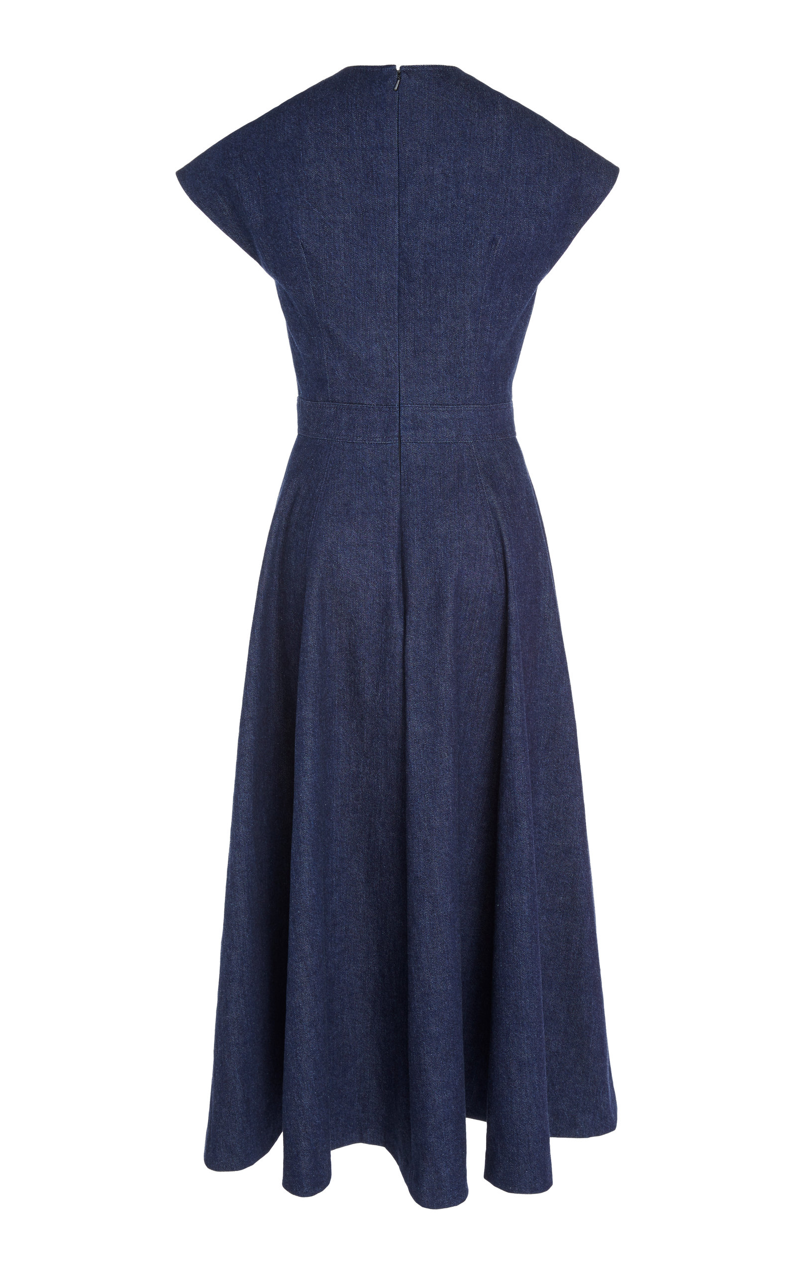 4d84d2da1f8 V-Neck Faux Wrap Midi Dress by Carolina Herrera