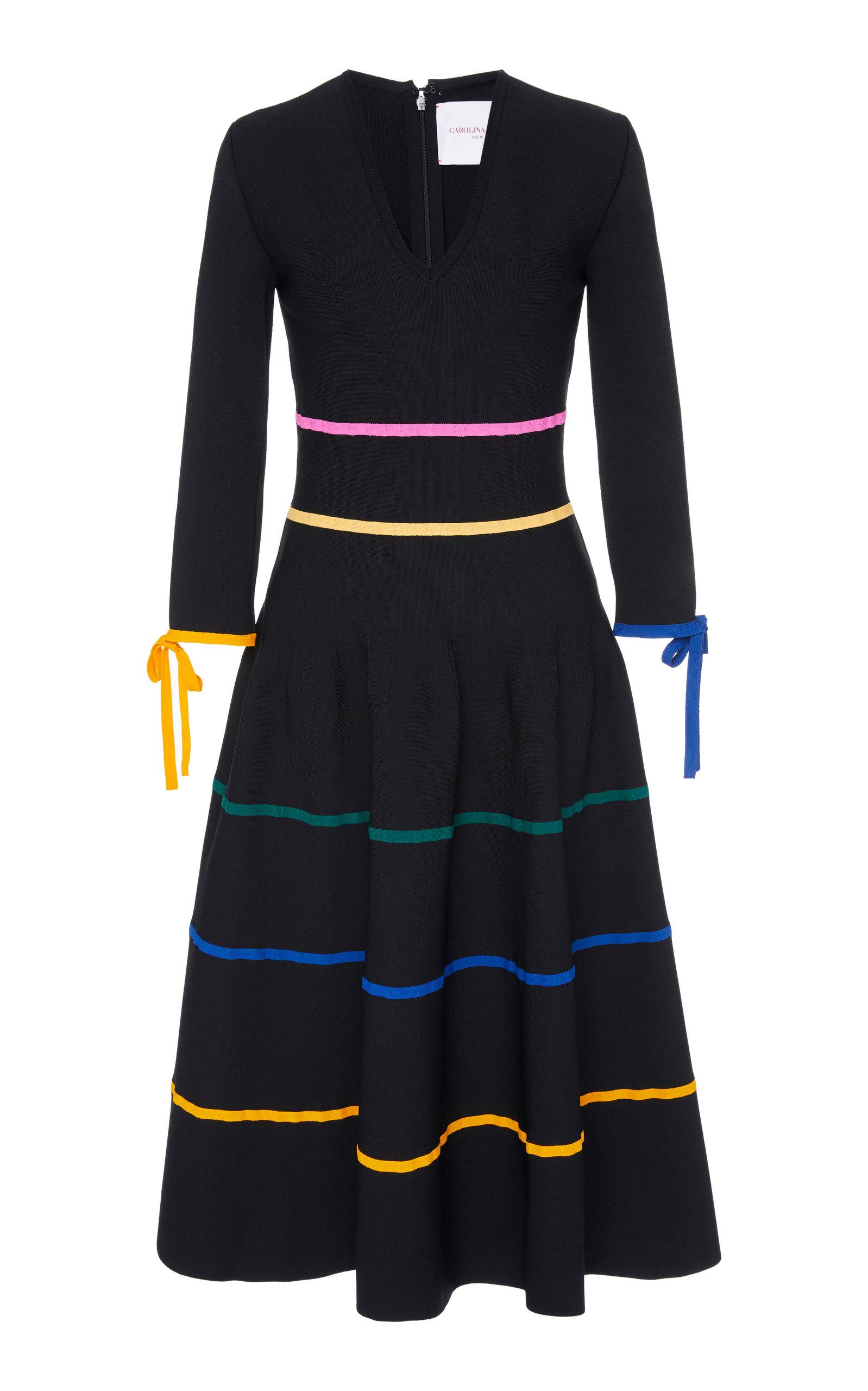 3/4 Sleeve Knit A-Line Dress Carolina Herrera Clearance Release Dates Online Store Clearance Amazon u6iaN4tNZq