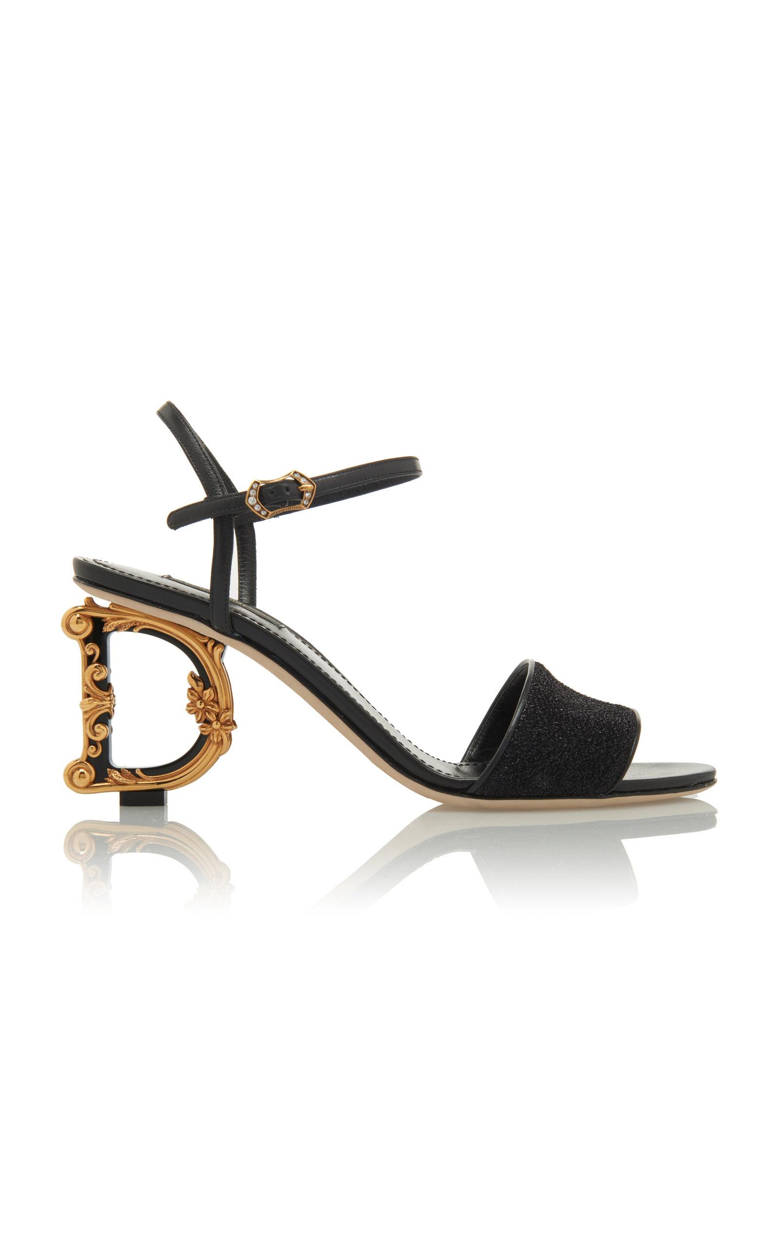 Dolce & Gabbana Sandals Baroque-Heel Lurex Sandals