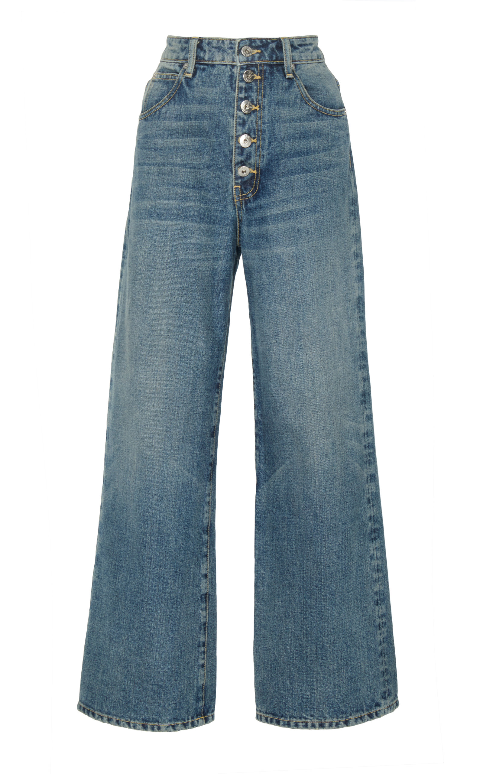 EVE DENIM Charlotte High-Rise Culotte Jeans in Soho Wash