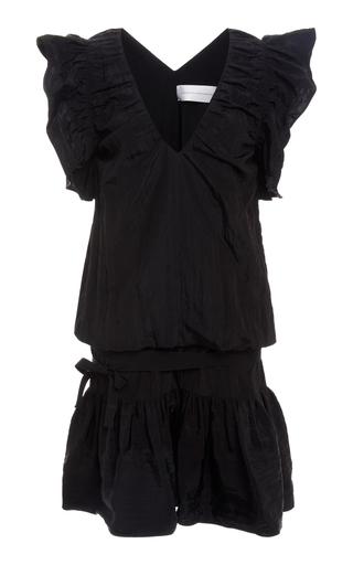 Victoria Victoria Beckham Mini dresses V-Neck Belted Ruffle Dress