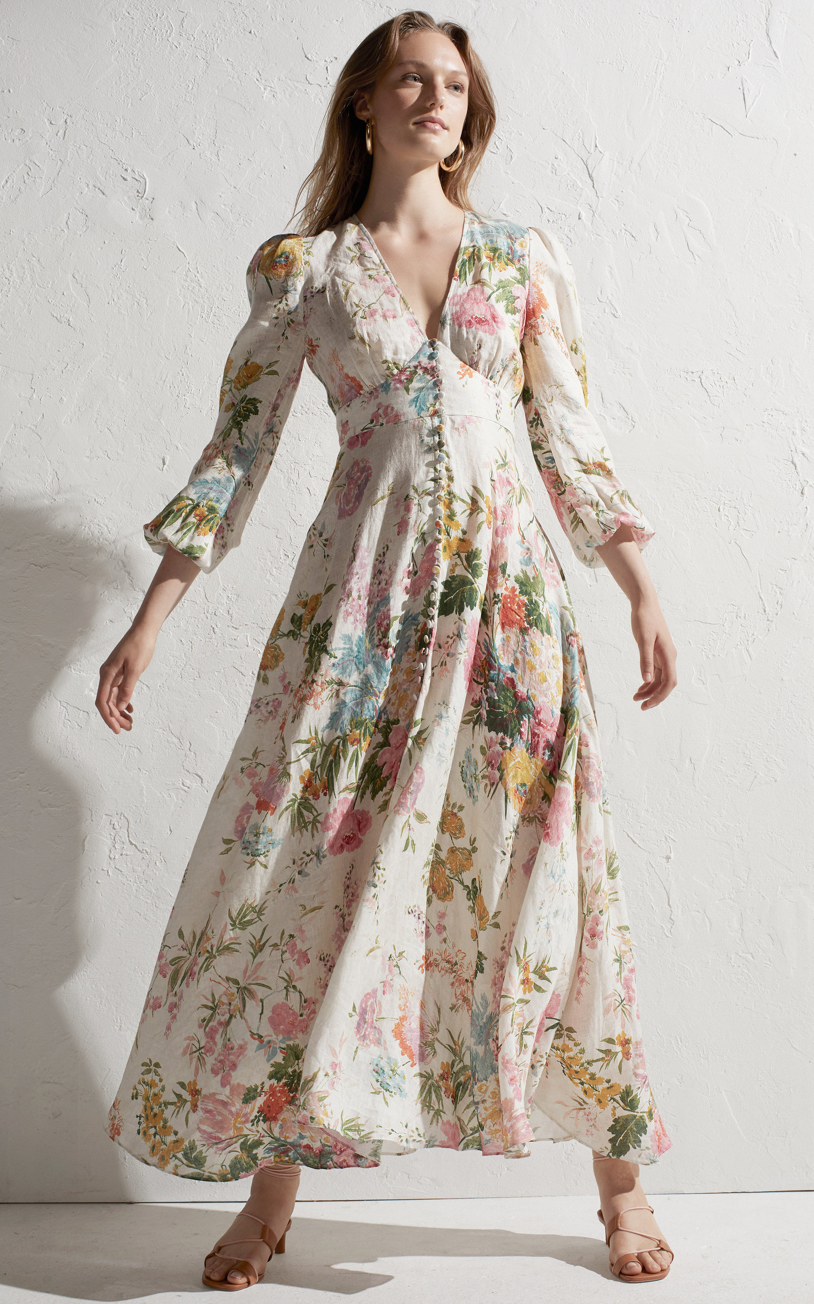 2869d47ec45 ZimmermannHeathers Floral Linen Maxi Dress. CLOSE. Loading. Loading.  Loading. Loading