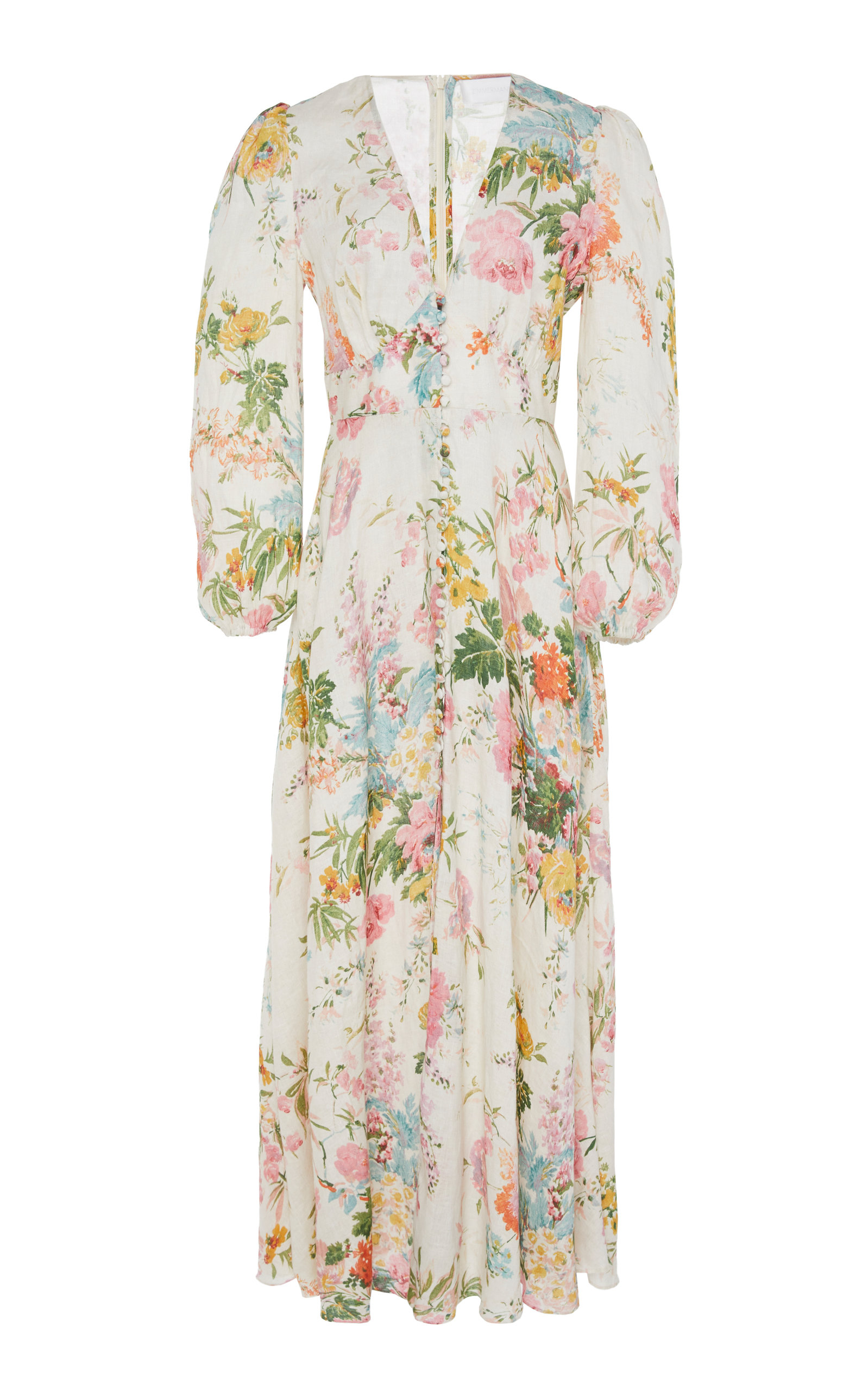 b827ac9c915 ZimmermannHeathers Floral Linen Maxi Dress. CLOSE. Loading