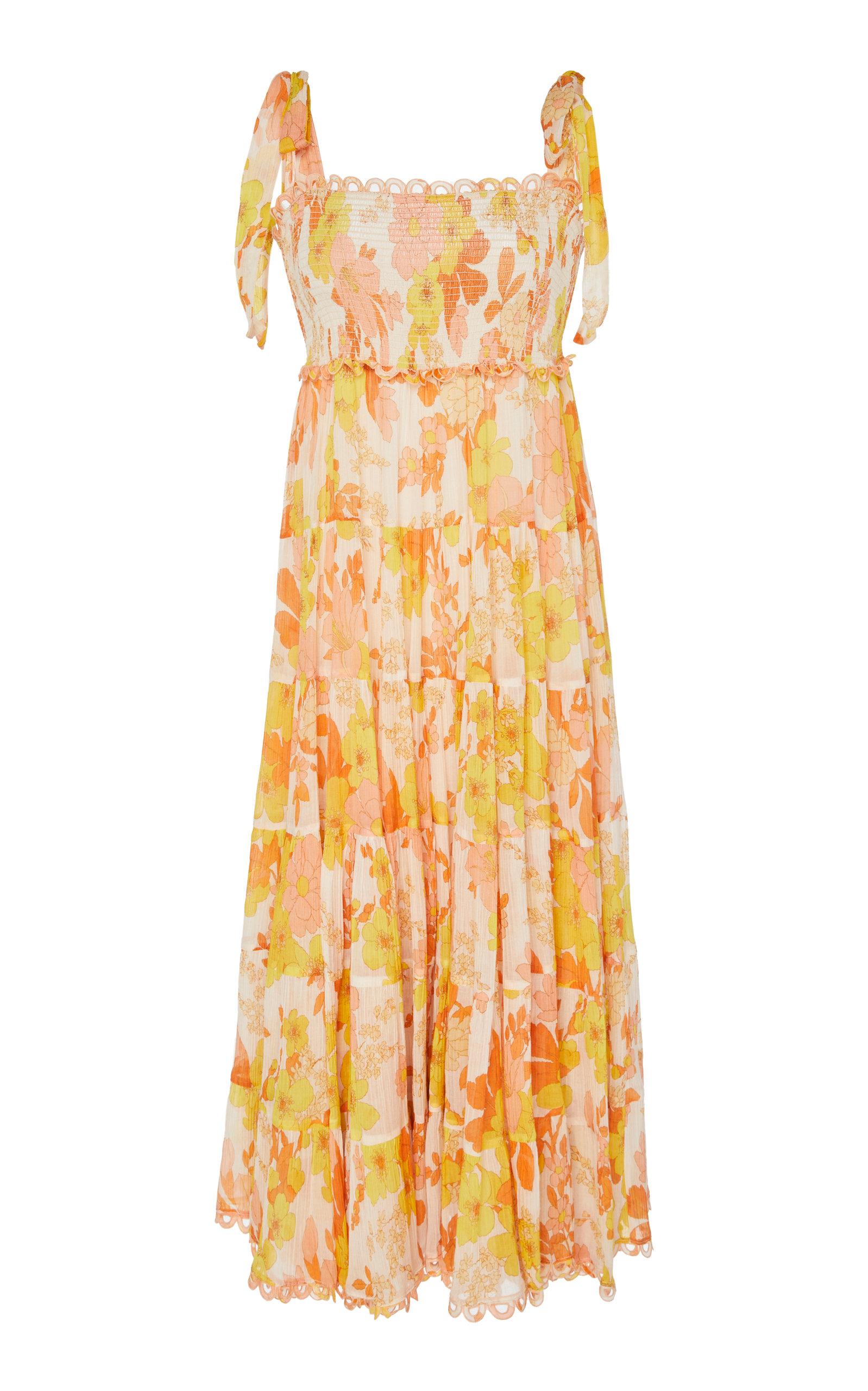 Primrose Shirred Waist Long Dress Zimmermann eht35