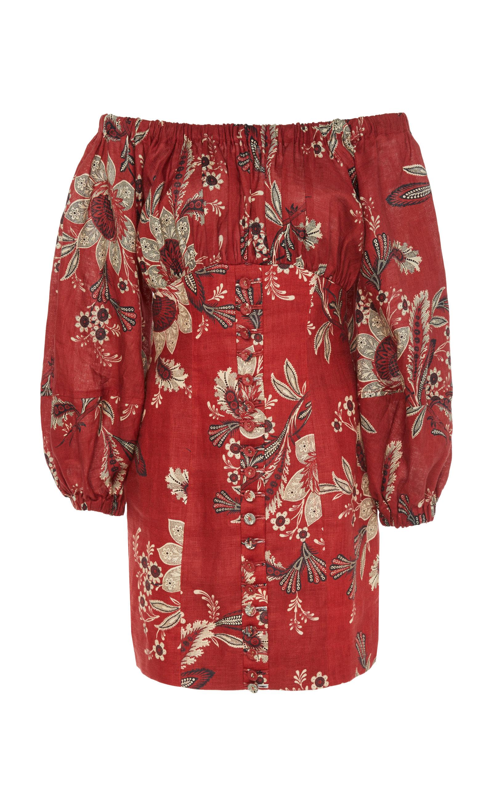 Juno Cotton Off-The-Shoulder Dress