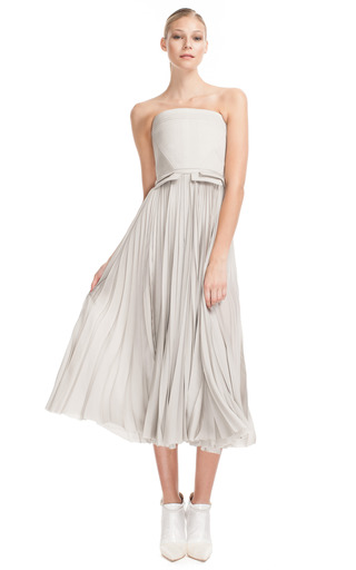 Medium j mendel off white quilted bustier gown