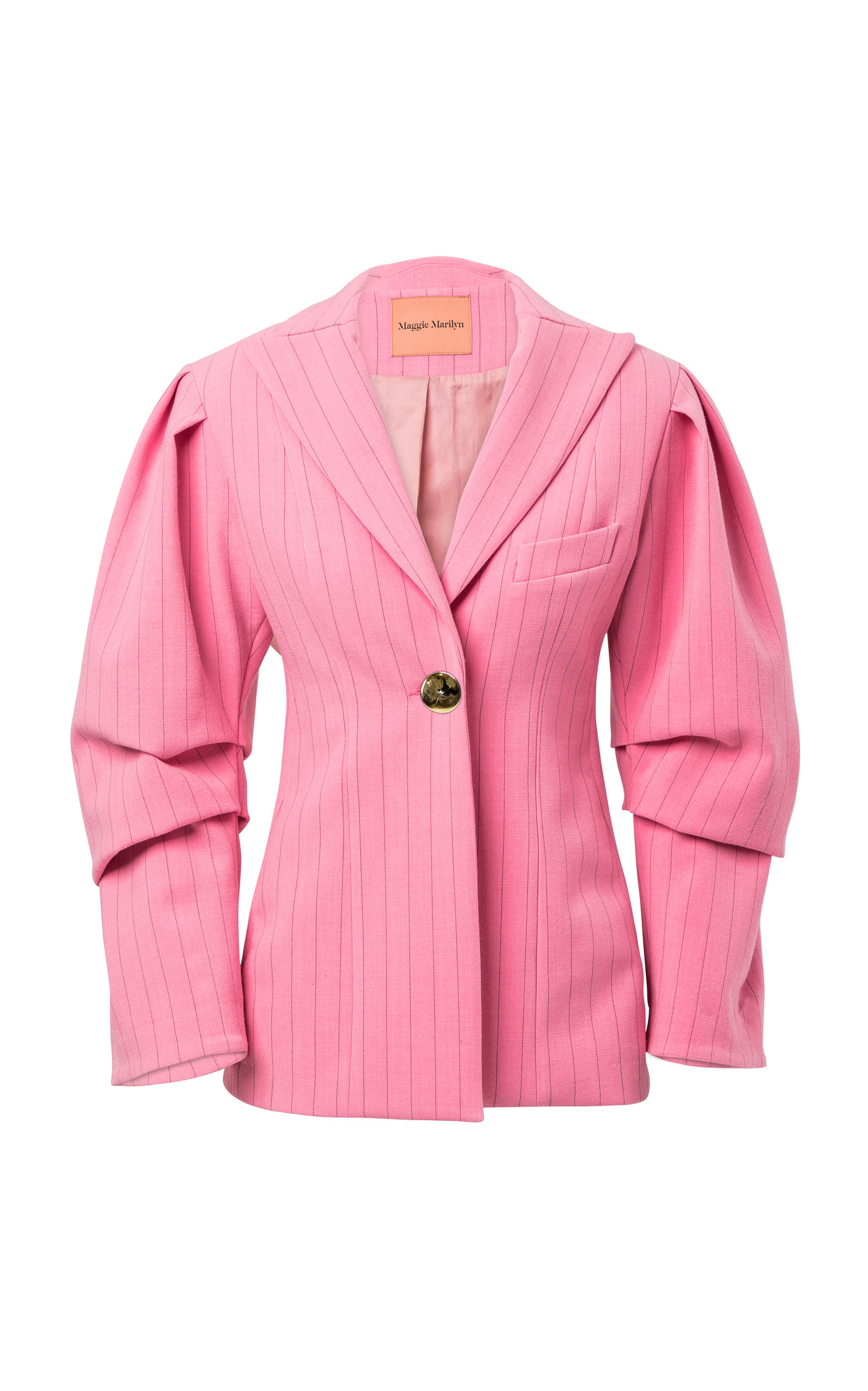 Maggie Marilyn YOU LIFT ME HIGHER PINSTRIPE BLAZER