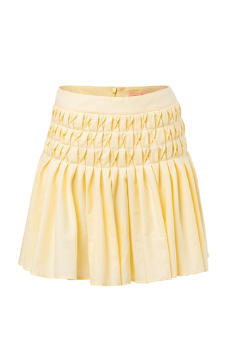 MAGGIE MARILYN | Maggie Marilyn Come Away With Me Smocked Cotton Mini Skirt | Goxip
